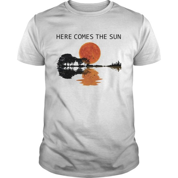 Natural Guitar sunset here comes the sun  Unisex