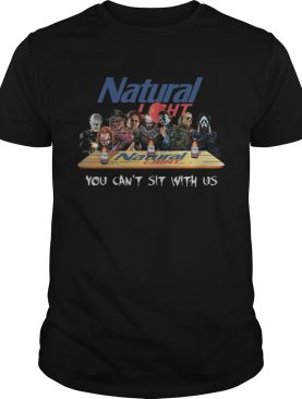 Natural Light Halloween Horror You Cant Sit With Us Shirt