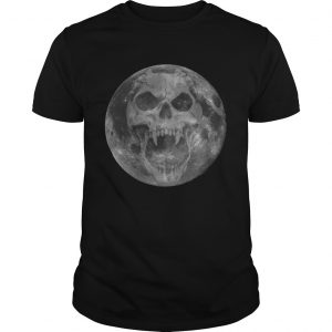 Scary Devil Skull Moon Horror Halloween Gifts for Men Women TShirt Unisex