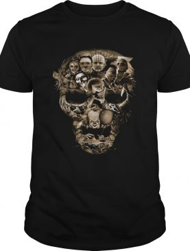 Skull Horror movie characters shirt