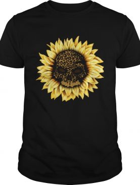 Sunflower leopard skull shirt