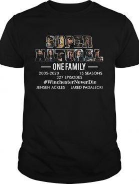 Supernatural one family 2005 2020 Winchester Never die shirt