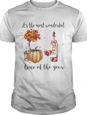 Wine Its the most wonderful time of the year shirt