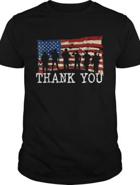 American Flag Thank you Veterans Shirt