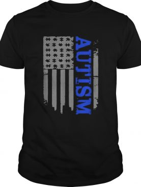 Autism Awareness American flag veteran shirt