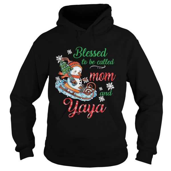 Blessed To Be Called Mom And Yaya Snowman TShirt Hoodie