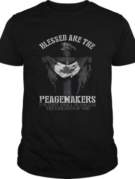 Blesses Are The Peagemakers Canadian Flag Shirt