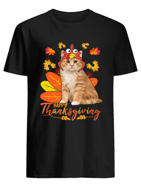 Cat Happy ThanksGiving Funny Cat Lover Gift T-Shirt