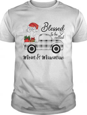 Christmas Blessed To Be Called MomMawmaw Elephant Truck TShirt
