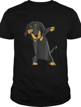 Dabbing Daschund Kids Wiener Dog Costume shirt