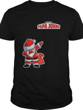 Dabbing Santa Pizza Papa Johns shirt