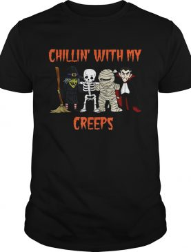 Dracula chillin with my creeps halloween shirt