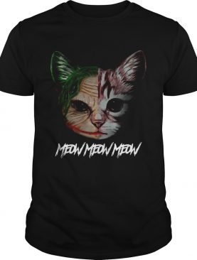 Face of Joker cat meow meow meow shirt