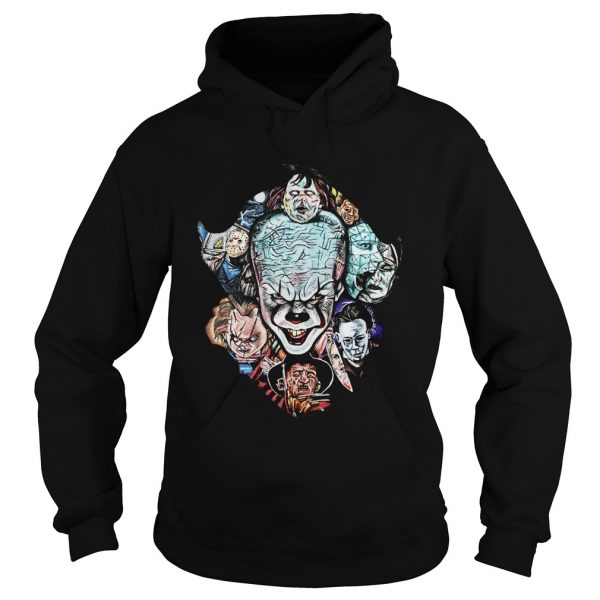 Face of Pennywise mashup Horror Character  Hoodie