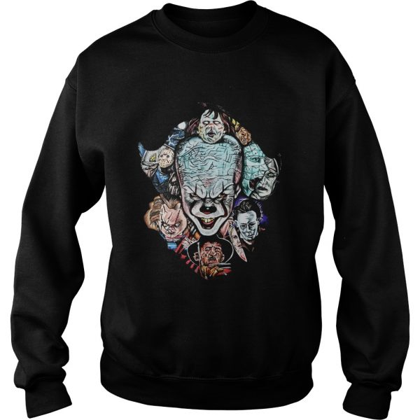 Face of Pennywise mashup Horror Character  Sweatshirt