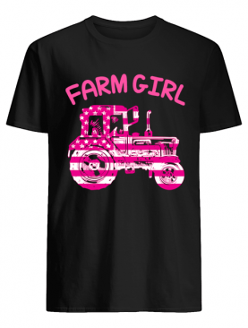 Farm Girl Pink Tractor Shirt