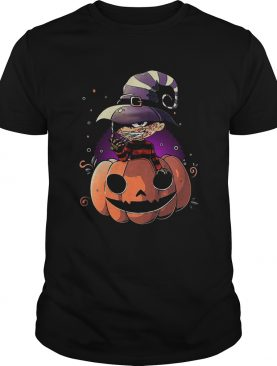 Freddy Krueger chibi on pumpkin halloween shirt