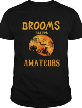 Halloween Brooms Are For Amateurs Motorcycle TShirt
