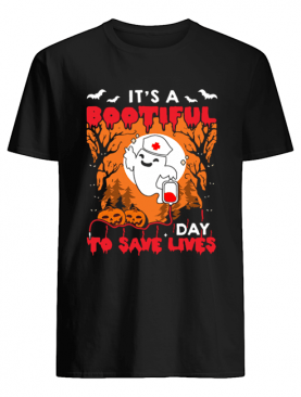 Halloween Nurse It's A Bootiful Day To Save Lives T-Shirt