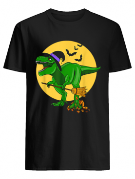 Halloween T Rex Dinosaur in Witch Costume Funny Boys Girls shirt