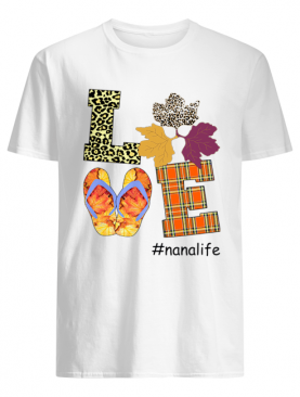 Halloween Women Mom Love Nanalife Nana Life T-Shirt