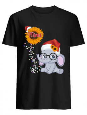 Happiness Is Being A Mimi Sunflower Elephant Christmas T-Shirt