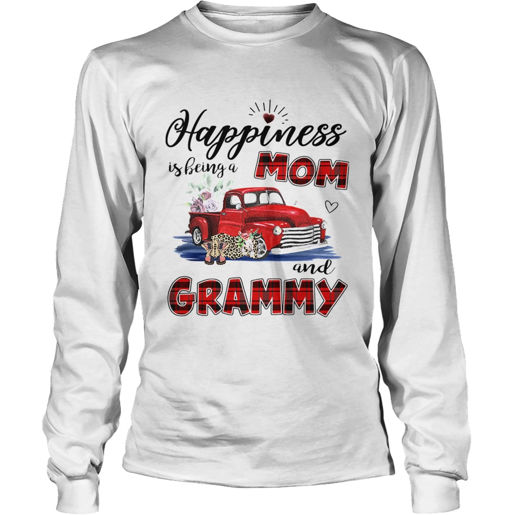 Happiness Is Being A Mom And Grammy Car Flower TShirt LongSleeve