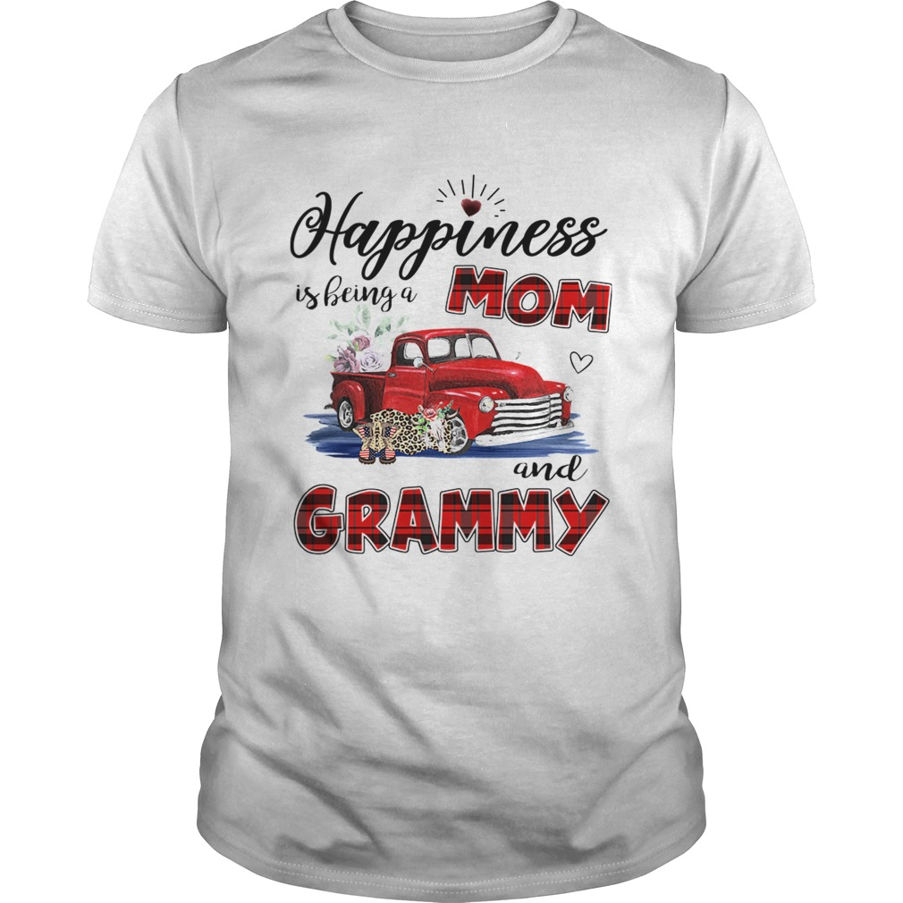 Happiness Is Being A Mom And Grammy Car Flower TShirt Unisex