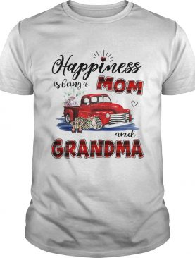 Happiness Is Being A Mom And Grandma Car Flower T-Shirt