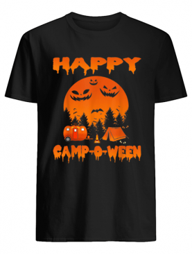 Happy Camp-O-Ween Funny Camping Halloween for Women shirt
