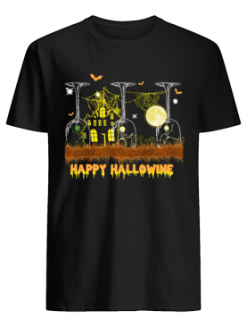 Happy Hallowine Glass Wine T-Shirt
