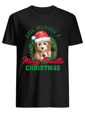 Have Yourself A Merry Doodle Christmas Goldendoodle Dog Love T-Shirt