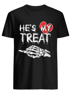 He's my Treat Matching couples Halloween His and Her Funny shirt