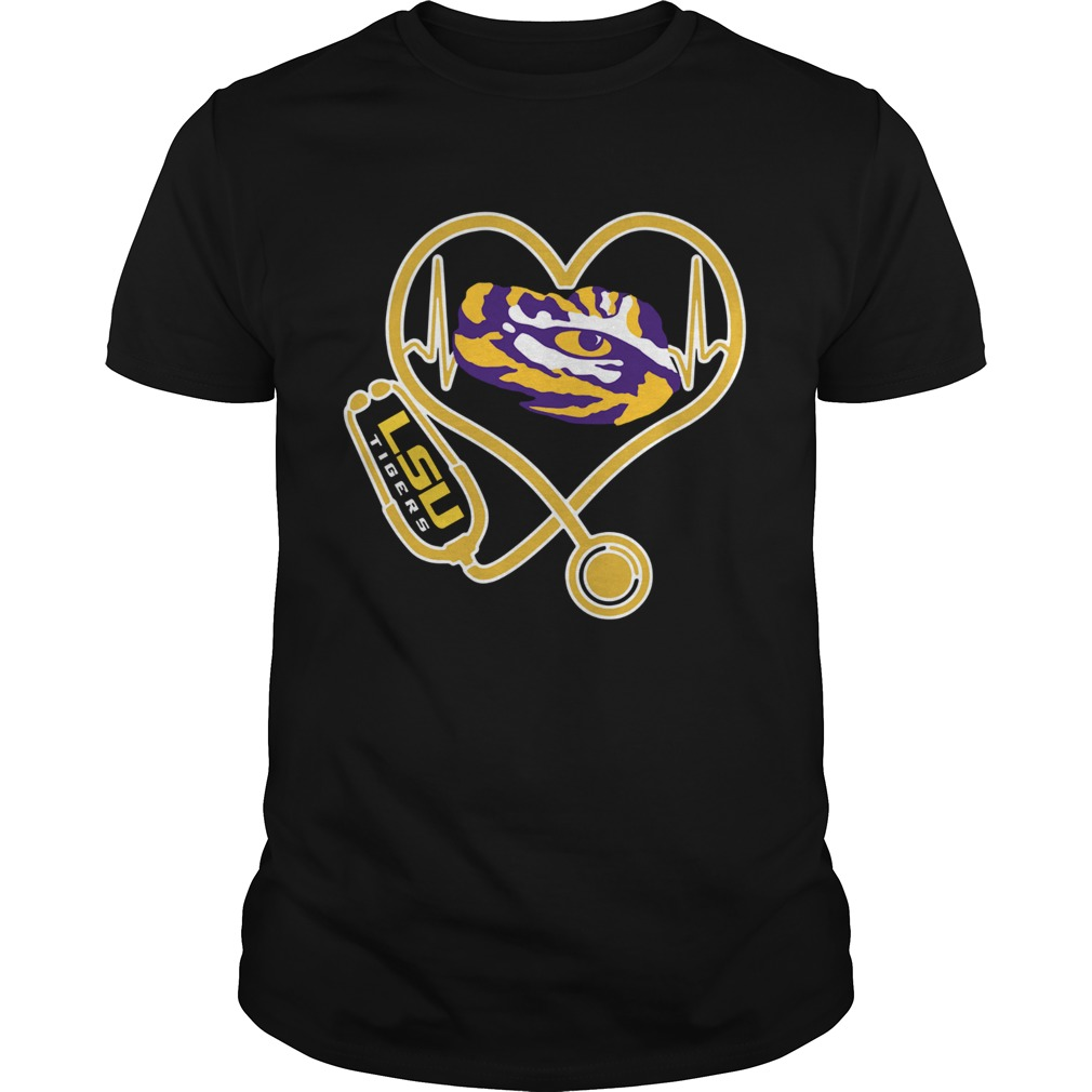 Heartbeat Nurse love LSU Tigers Unisex