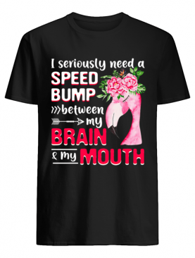 I Seriously Need A Speed Bump Between Brain And Mouth T-Shirt
