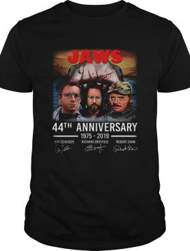 Jaws 44th anniversary 19752019 signatures shirt