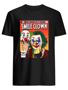 Joker the origin of a villain smile clown shirt