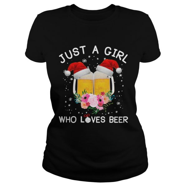 Just a girl who loves beer Christmas ugly  Classic Ladies