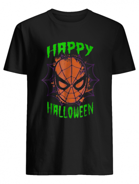 Marvel Spider-Man Mask Happy Halloween Graphic shirt