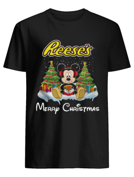 Mickey Mouse drink Dutch Reese's Christmas shirt