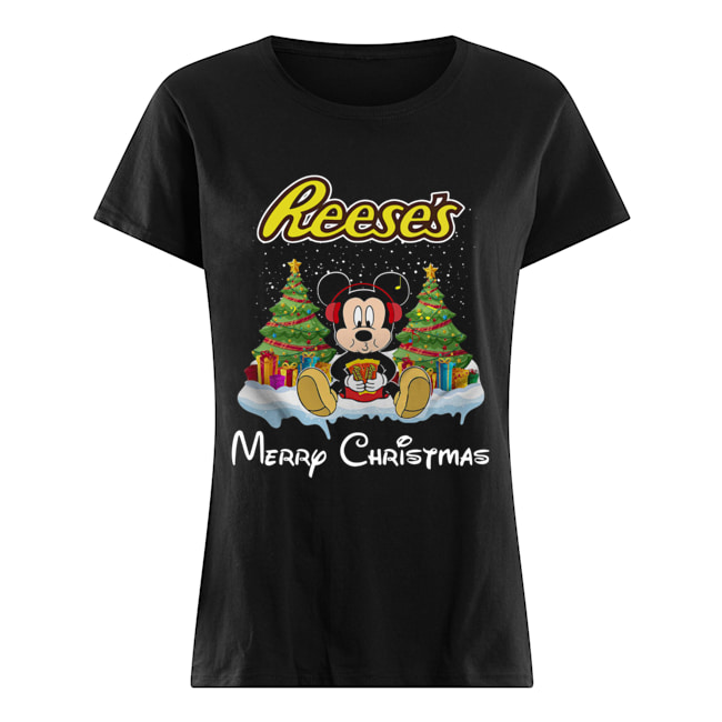 Mickey Mouse drink Dutch Reese's Christmas Classic Women's T-shirt