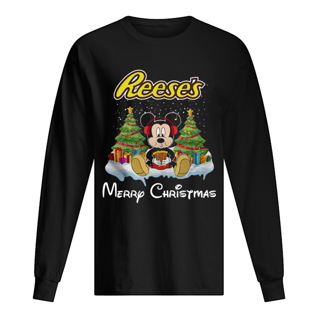 Mickey Mouse drink Dutch Reese's Christmas Long Sleeved T-shirt