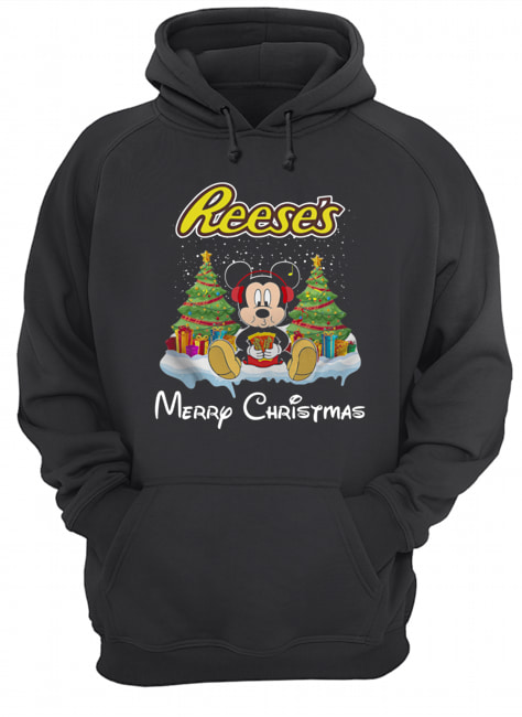 Mickey Mouse drink Dutch Reese's Christmas  Unisex Hoodie