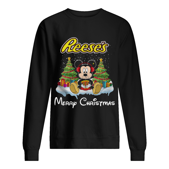 Mickey Mouse drink Dutch Reese's Christmas Unisex Sweatshirt