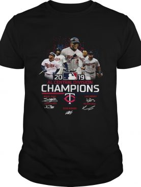 Minnesota Twins 2019 Al central division Champions signatures shirt