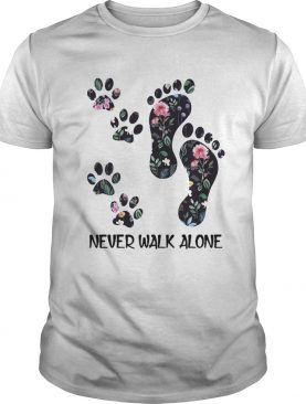 Never Walk Alone Floral Paw Tshirt