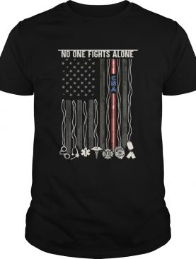 No One Fights Alone CNA American Flag Back Tshirts