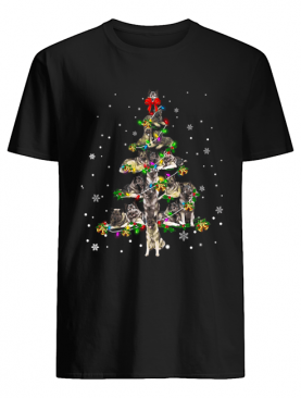 Norwegian Elkhound Christmas Tree T-Shirt