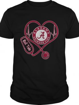 Nurse Heartbeat Love Alabama Crimson Tide Roll tide shirt