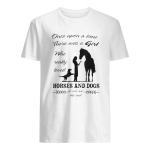 Once Upon A Time There Was Girl Who Loved Horse And Dog  Classic Men's T-shirt